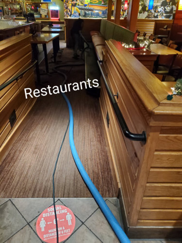 cleaning a restaurant